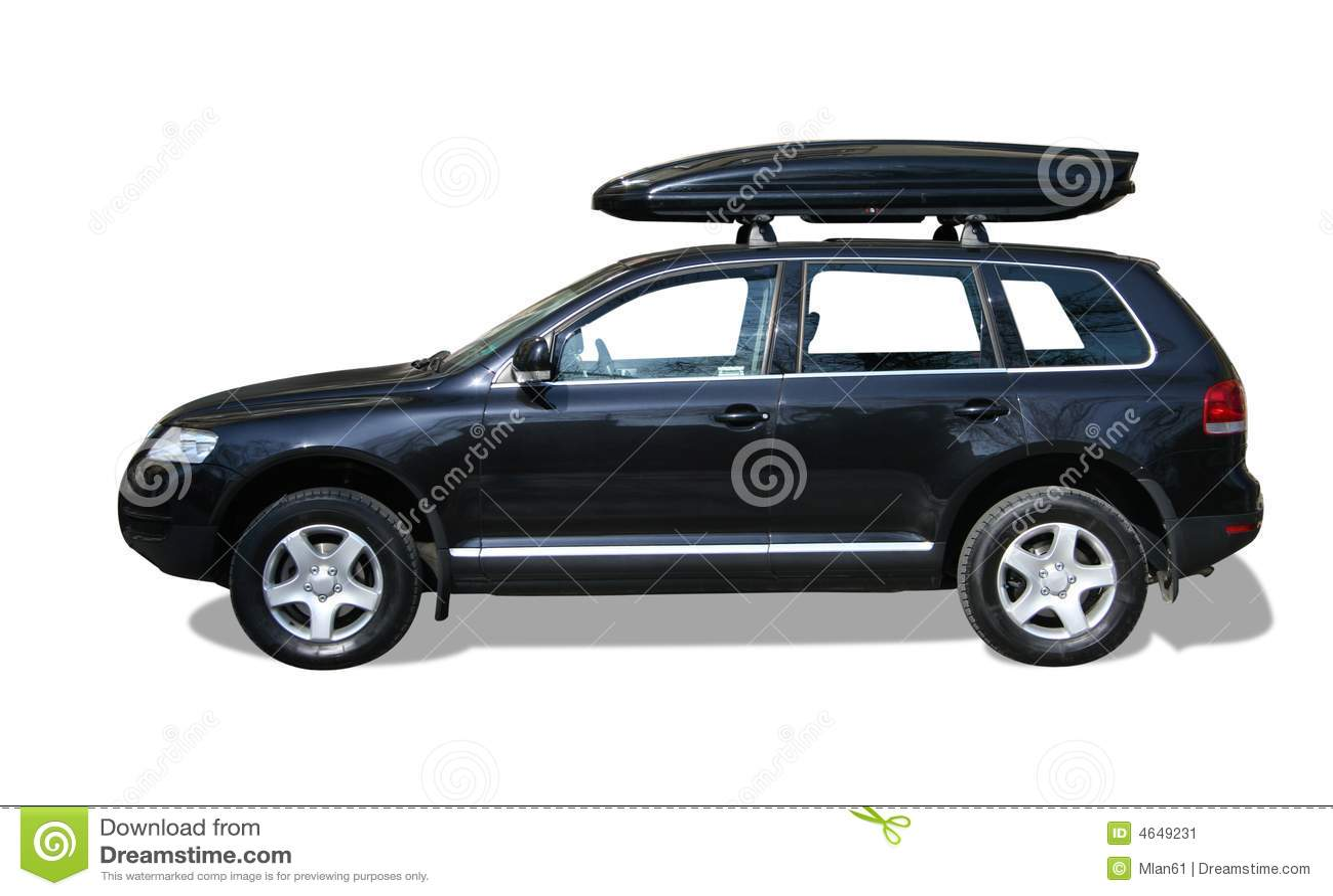 Carro com caixa do telhado