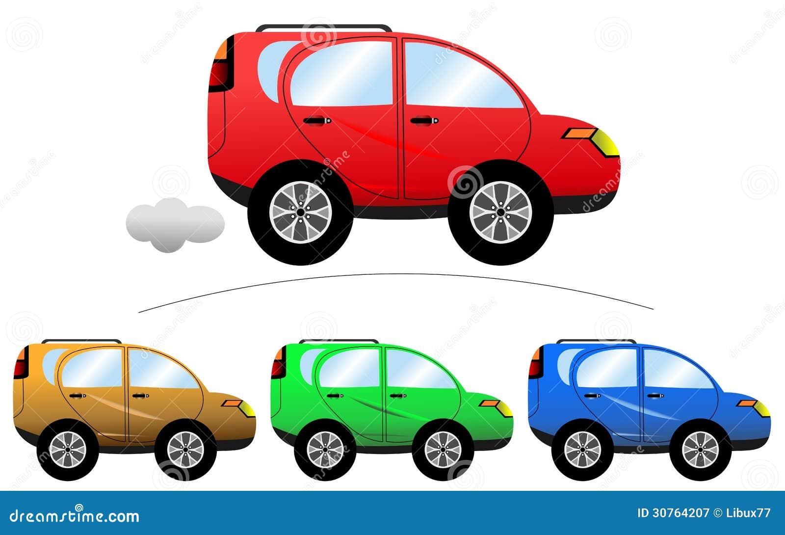 Carro Comercial Dos Desenhos Animados Ilustracao Do Vetor