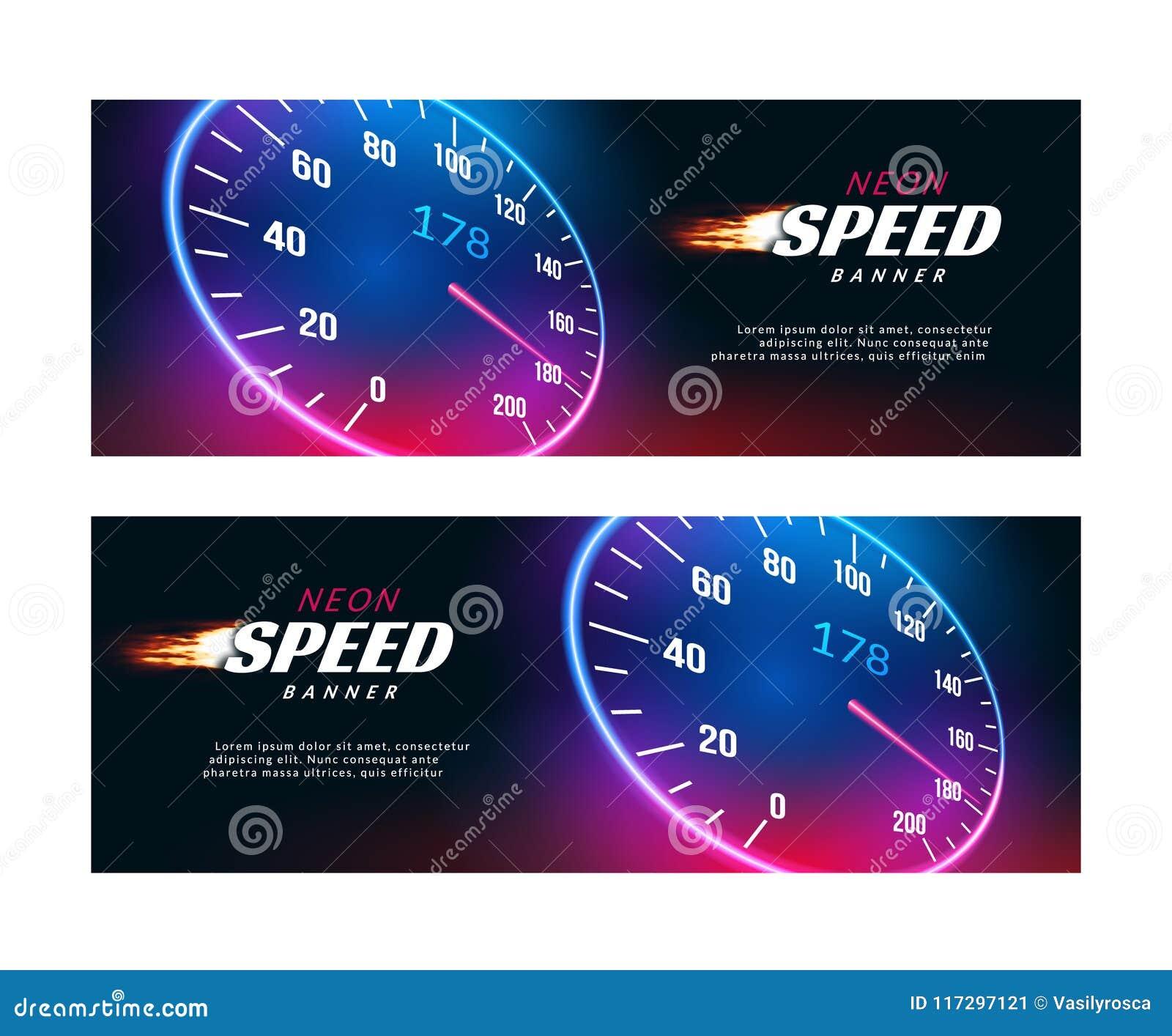Carro da velocidade da bandeira Projeto rápido do cartaz ou do inseto da ação do velocímetro