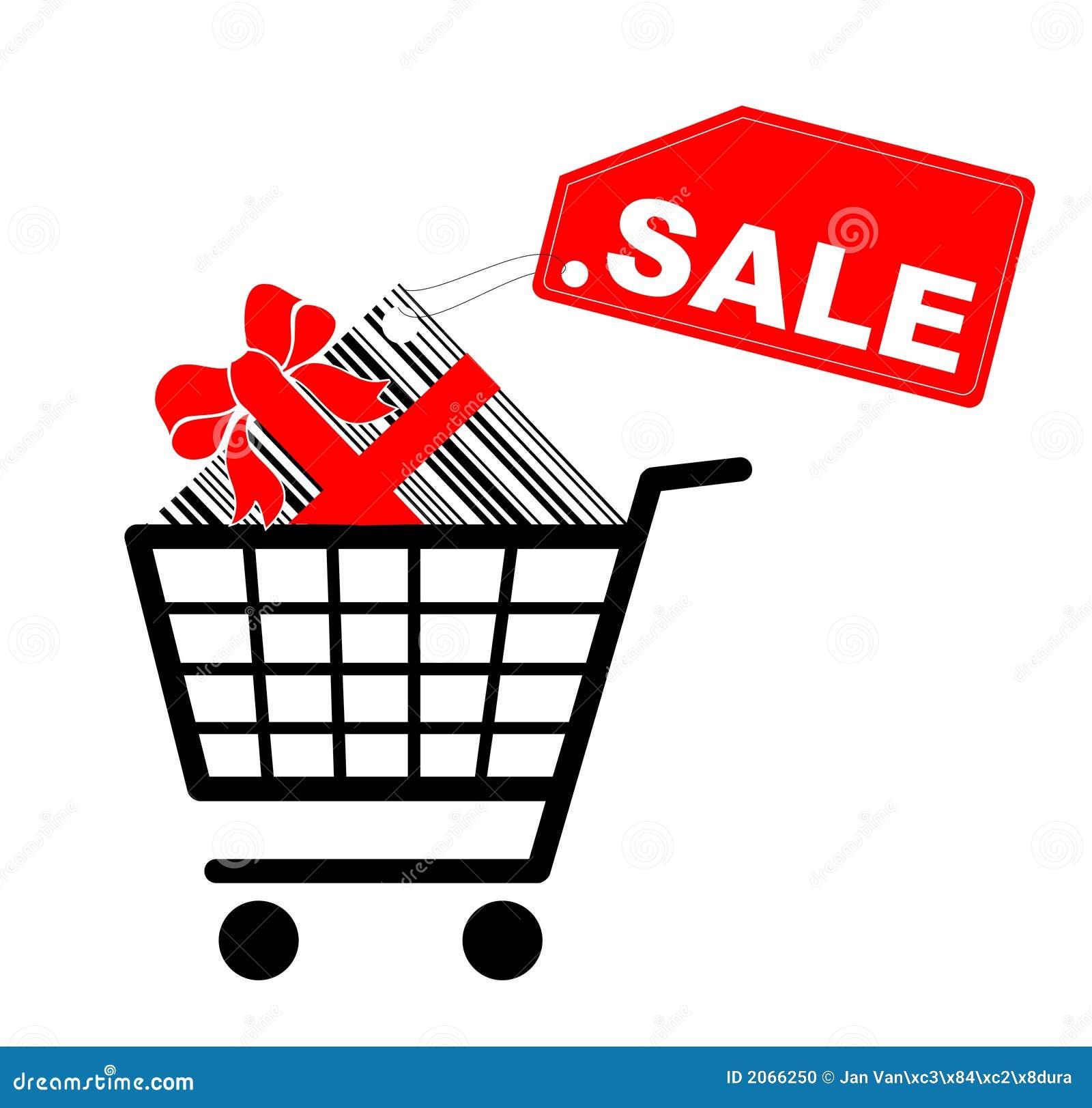 Carro de compras con el presente y la escritura de la - Carrito dela compra ...