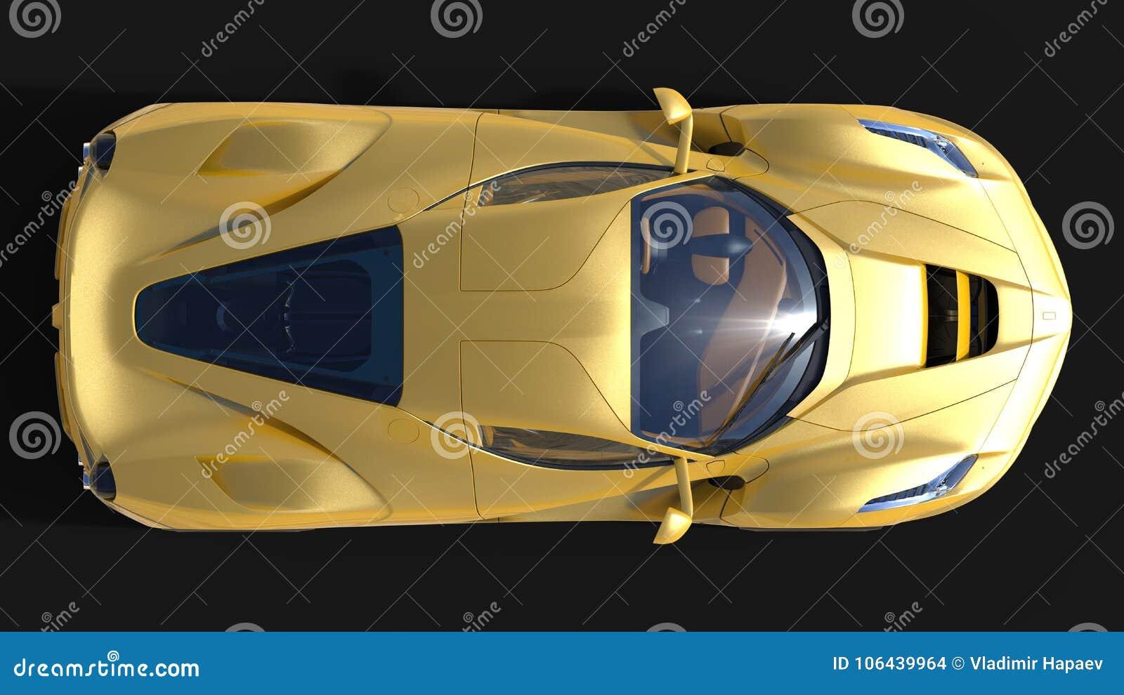 Carro de esportes E ilustração 3D