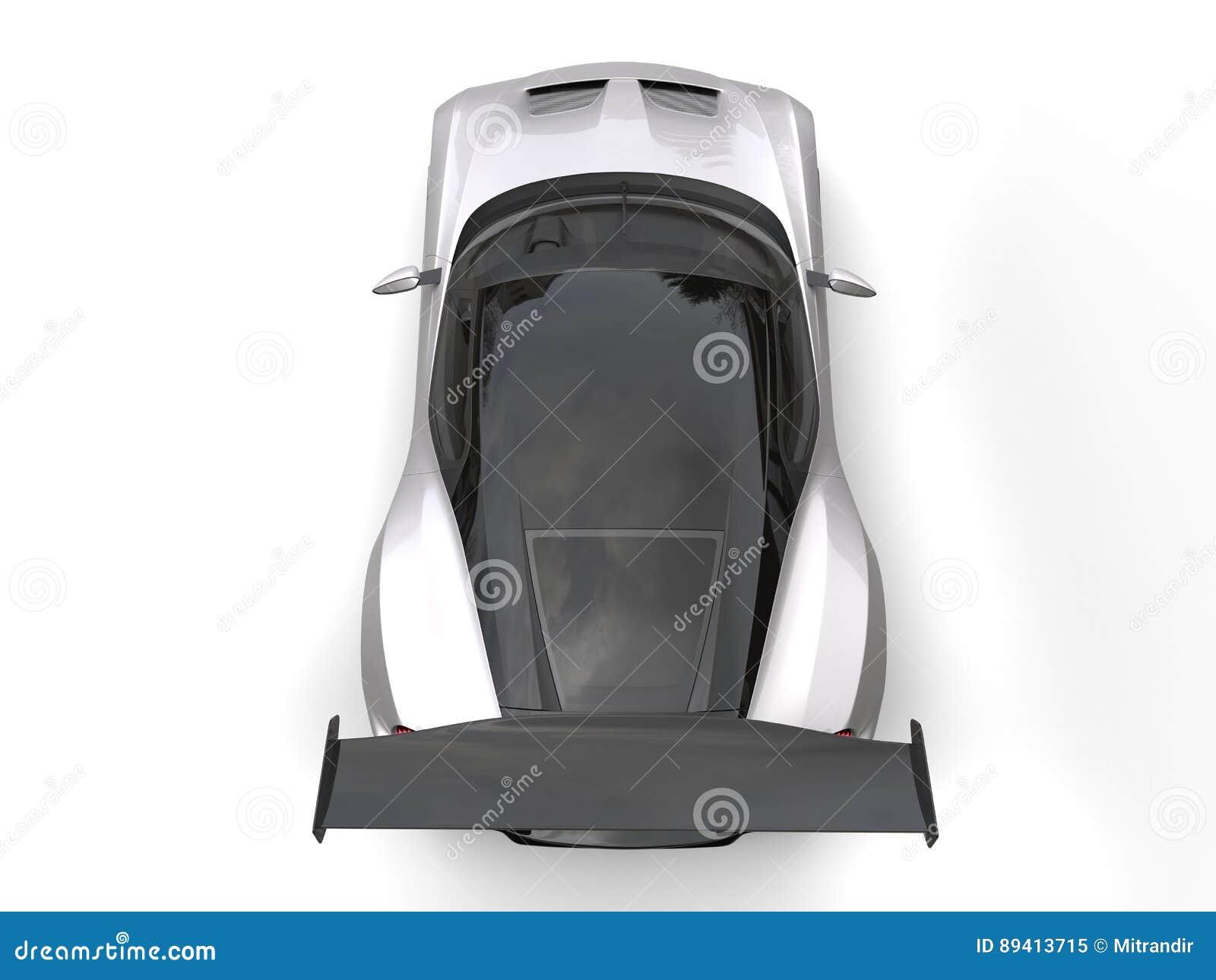 Carro de esportes moderno metálico do cinza de prata