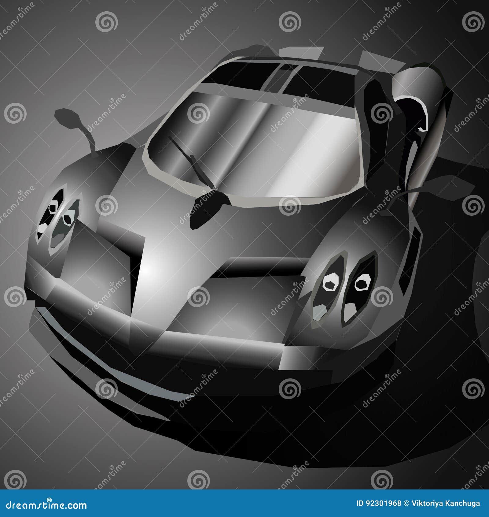 Carro de esportes preto