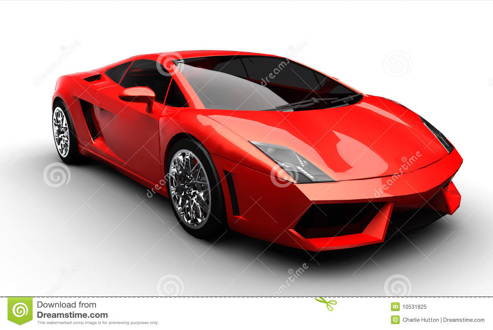 Carro de esportes vermelho