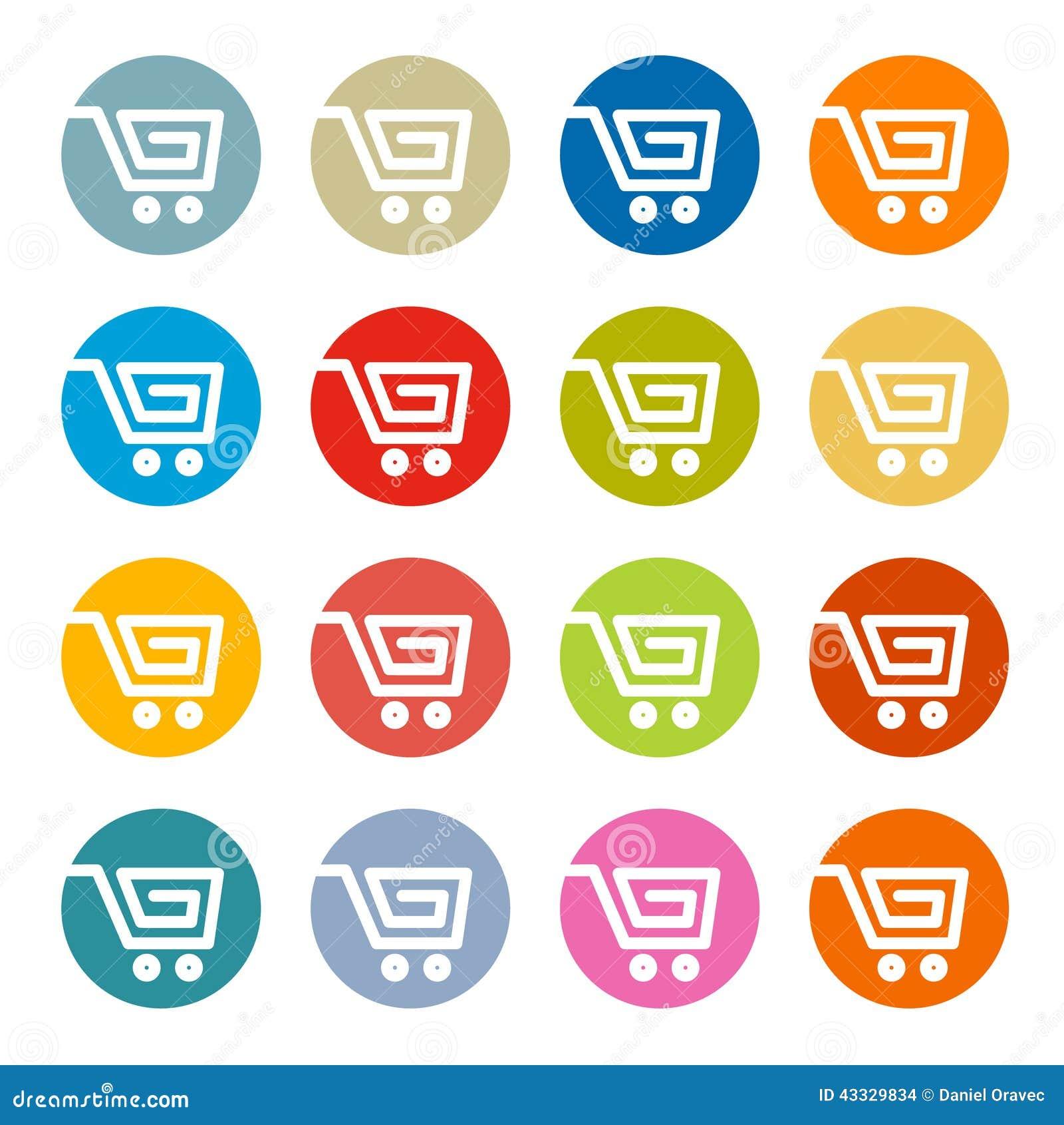 Carro de la compra cesta s mbolos del web ilustraci n - Central de compras web ...