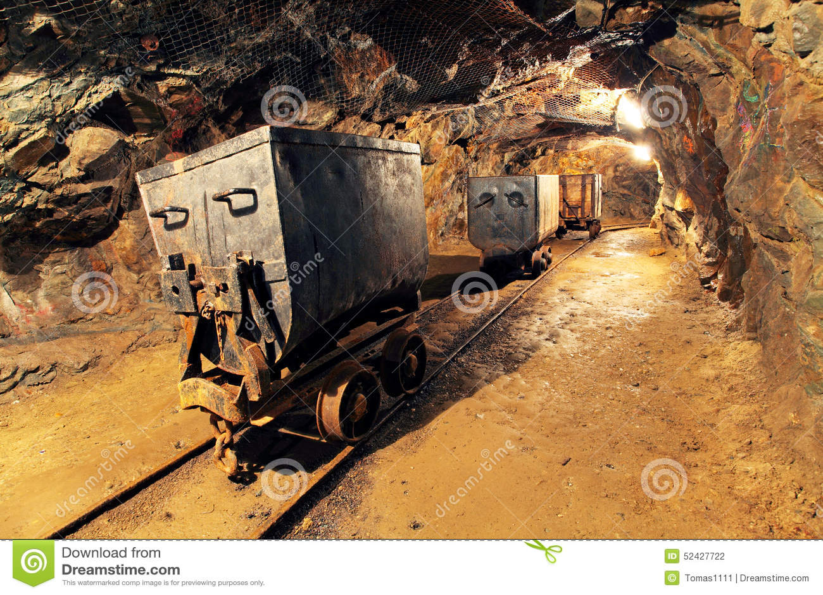 Carro De La Explotaci 243 N Minera En La Plata Oro Mina De
