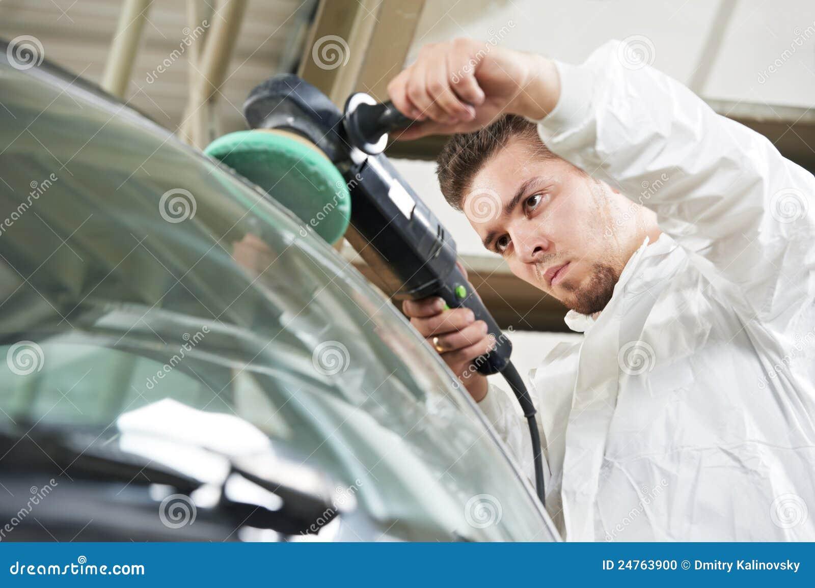 Carro de lustro do auto mecânico