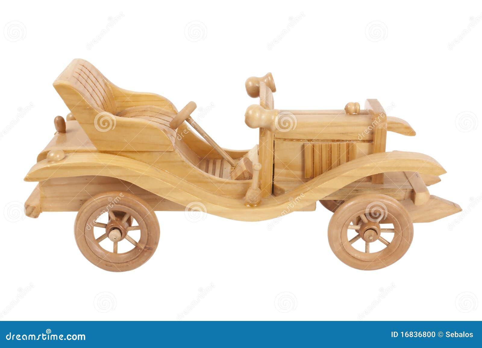 Carro De Madeira Do Brinquedo Foto de Stock - Imagem: 16836800