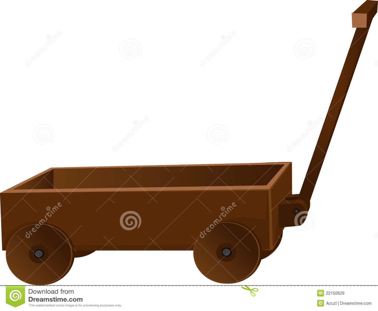Carro De Madera Clasico Para Los Juguetes Stock De Ilustracion