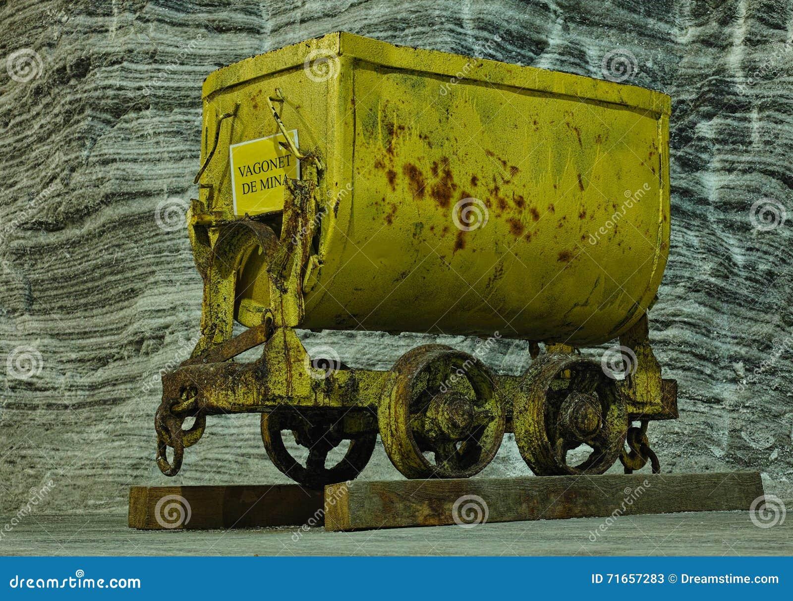 Carro de mina de sal