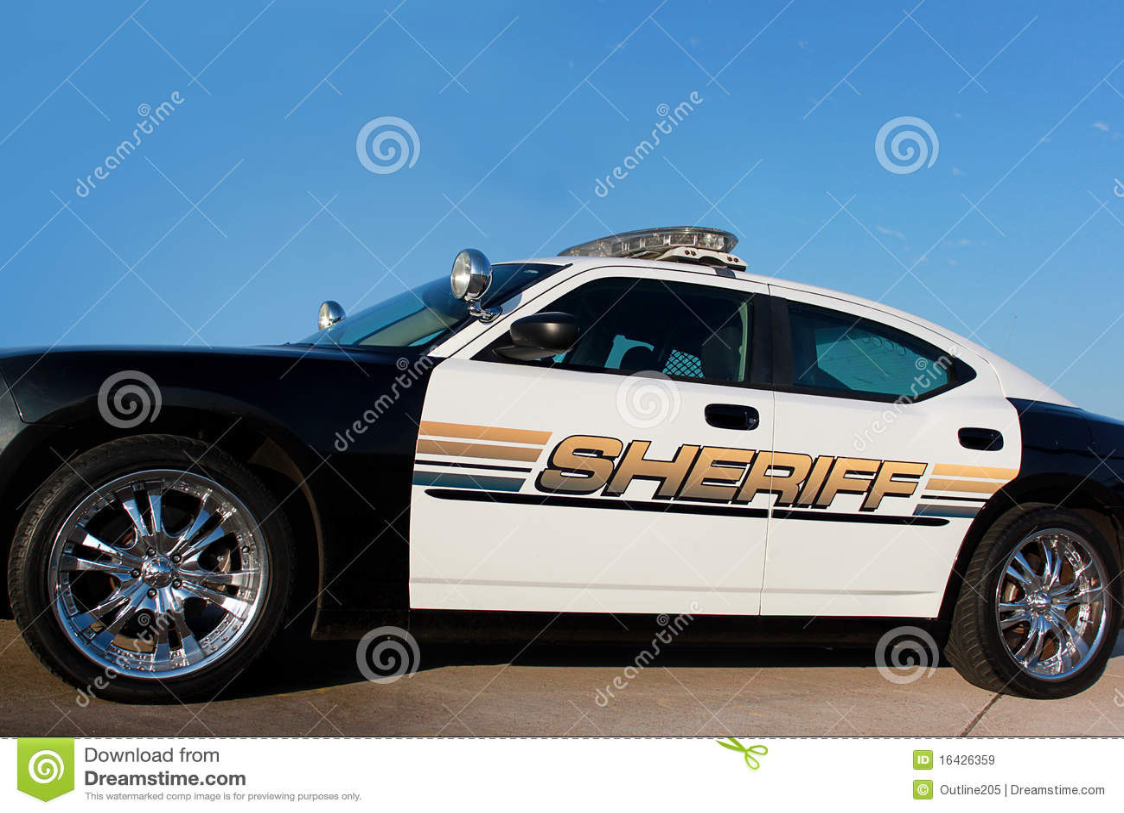 Carro de patrulha do xerife