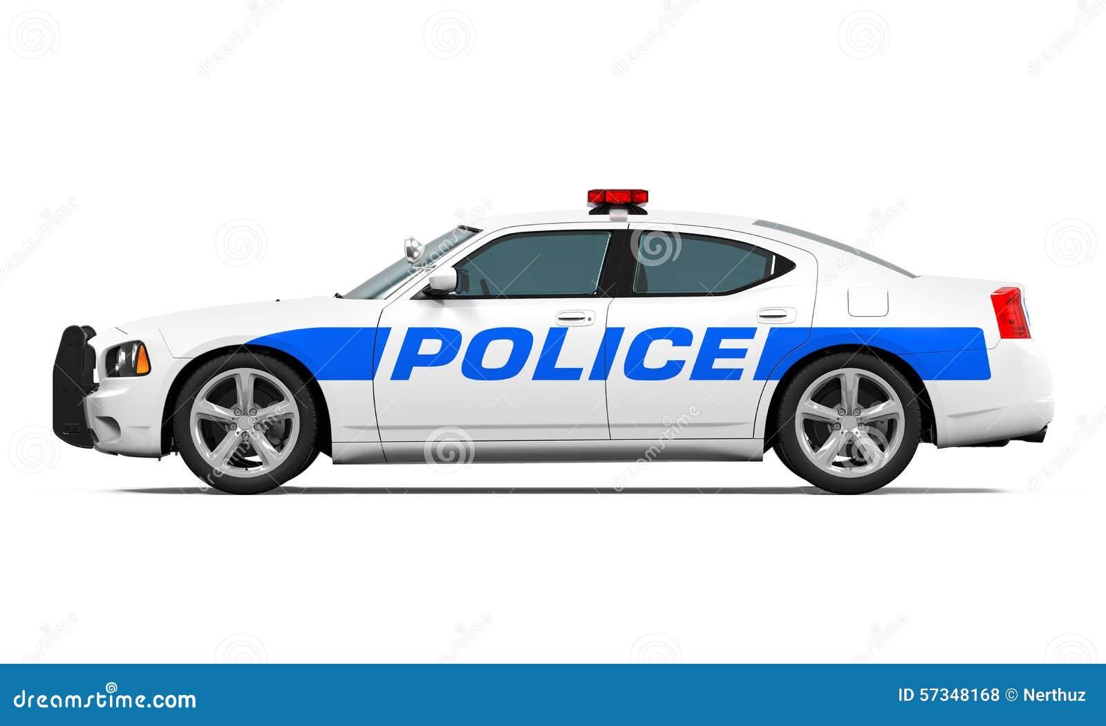 Carro de polícia isolado