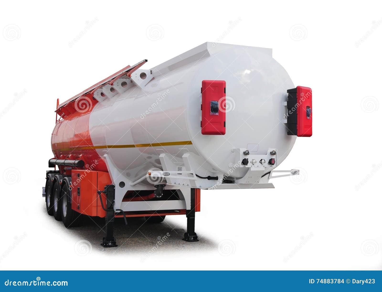 Carro de tanque, isolado Para o transporte do gás e da gasolina, PR do óleo