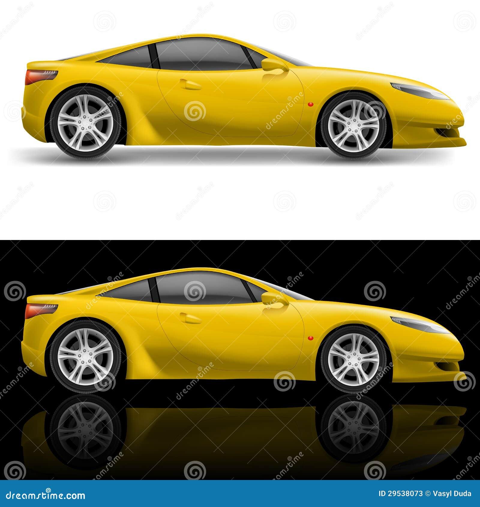 Carro desportivo amarelo