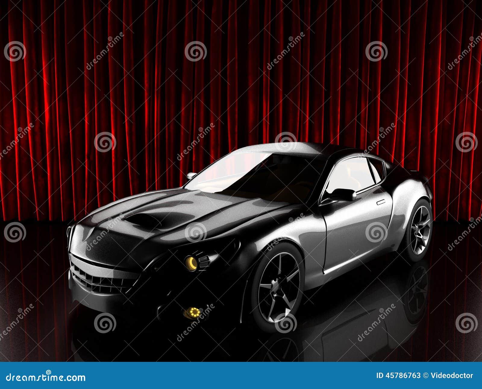 Carro desportivo brandless luxuoso 3D rendido