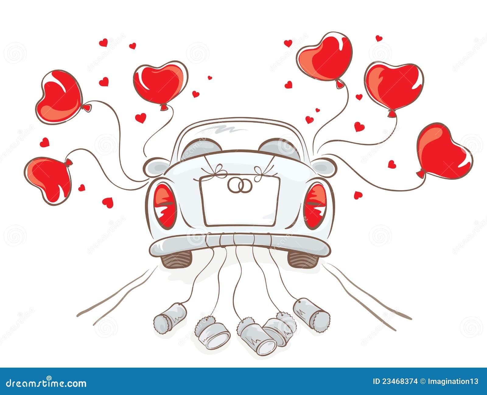 carro do casamento ilustração do vetor ilustração de