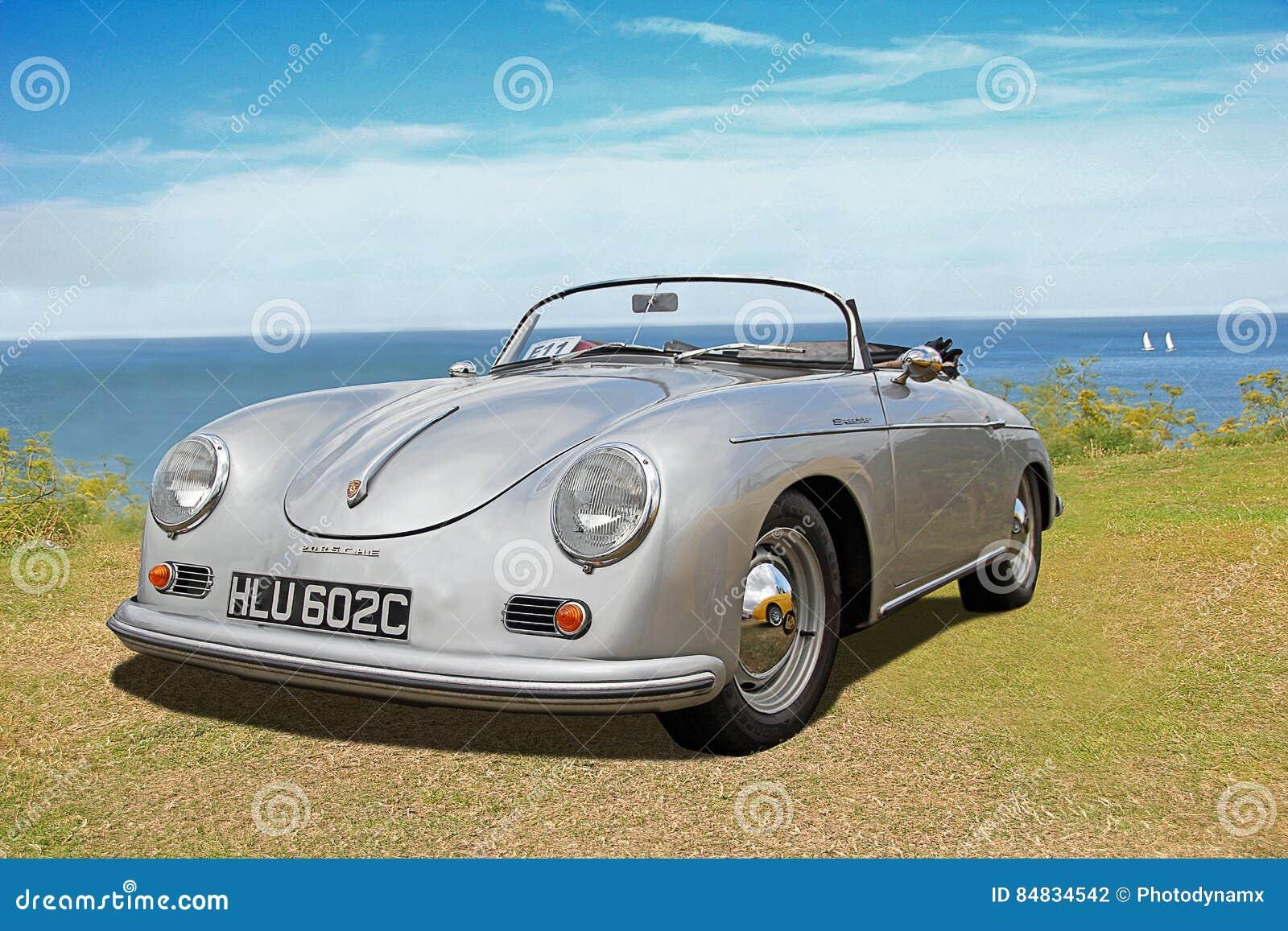 Carro Do Convertible Do Louco Do Volante De Porsche Do Vintage Fotografia Editorial Imagem De Louco Porsche 84834542