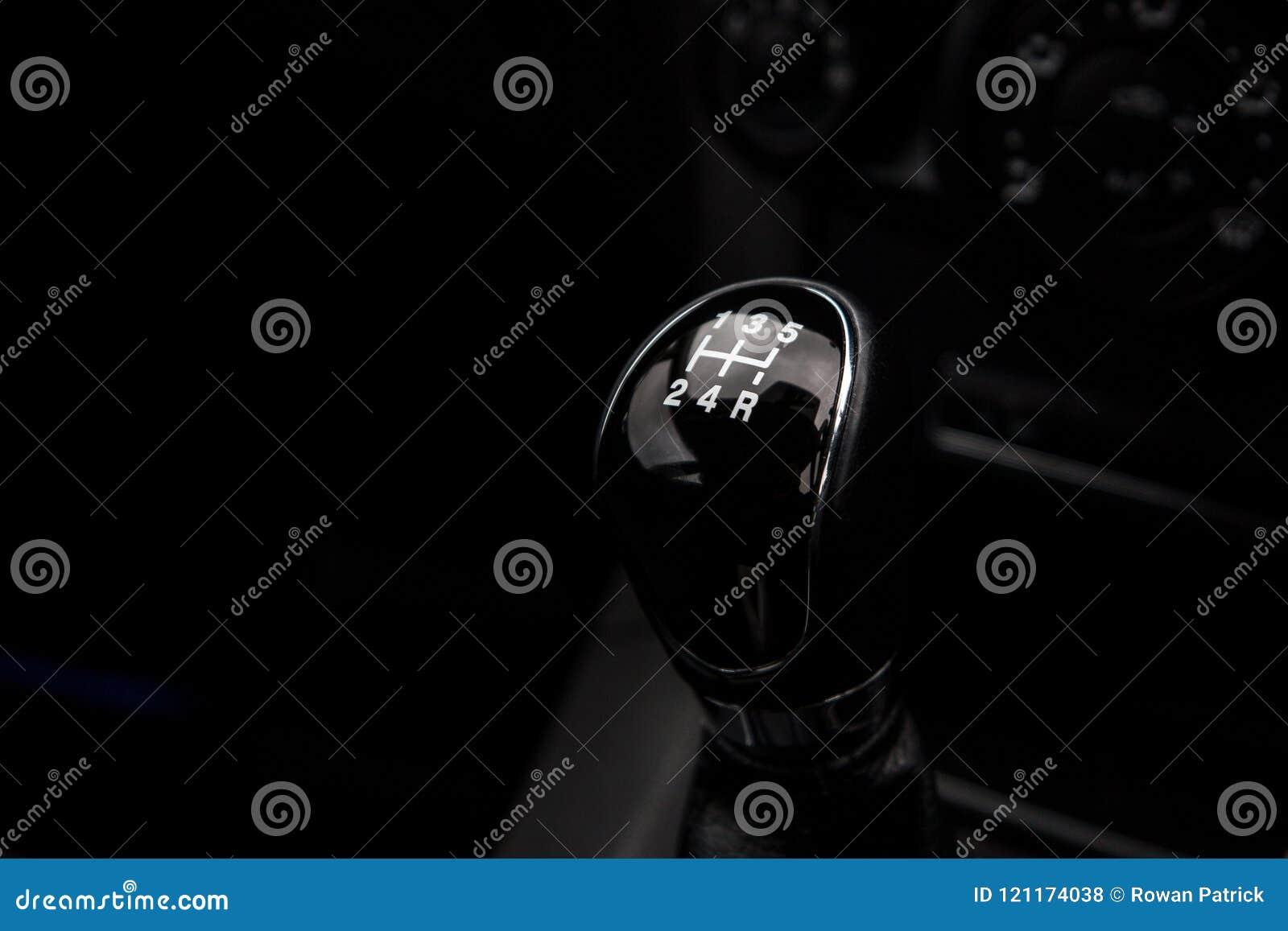 Carro do manual do botão da engrenagem