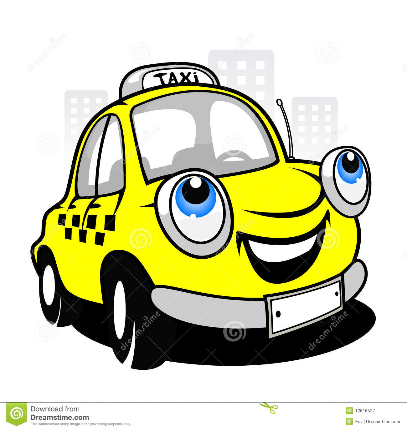 carro do táxi dos desenhos animados ilustração do vetor ilustração