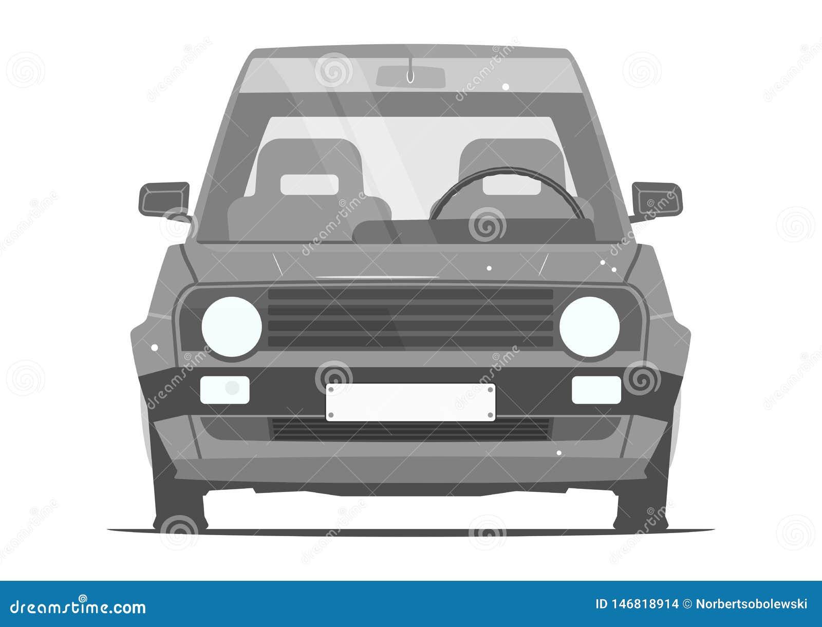 Carro Dos Desenhos Animados Dos Anos 80 Ilustração Do Vetor