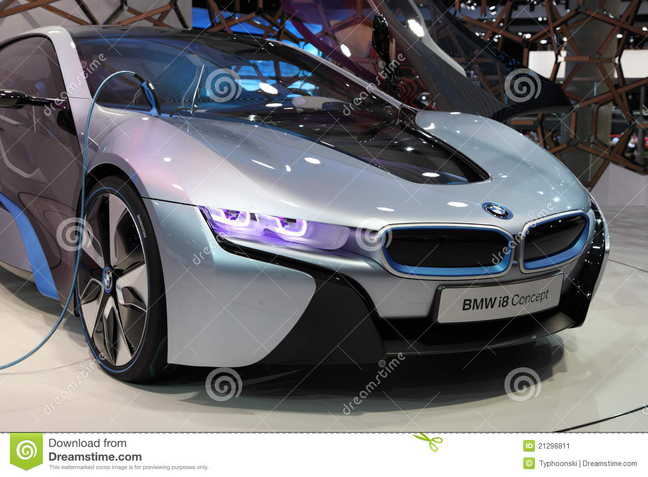 Carro El 233 Trico I8 Do Conceito De Bmw Foto Editorial