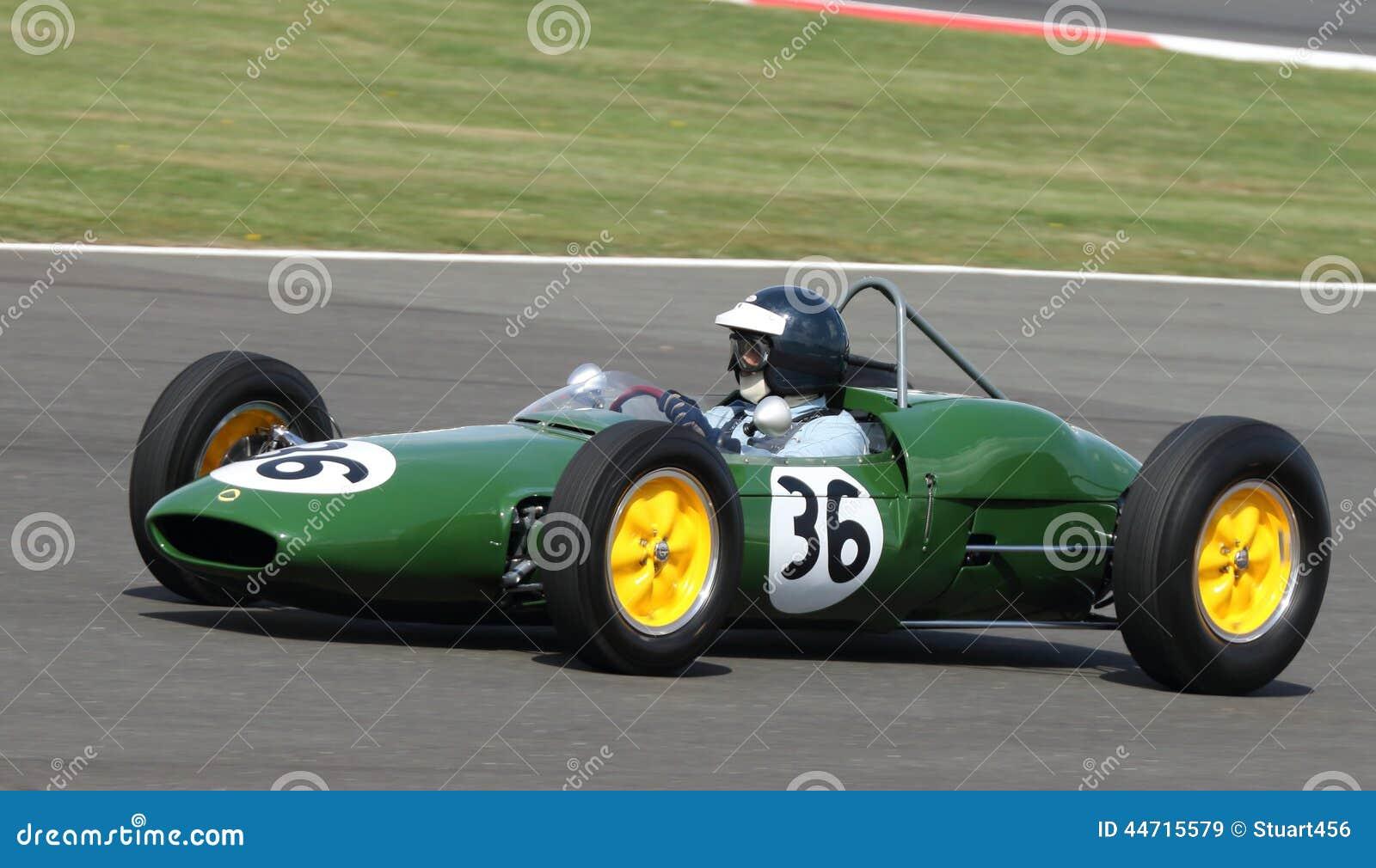 Carro grande de Prix da fórmula 1 do clássico de Lotus 21