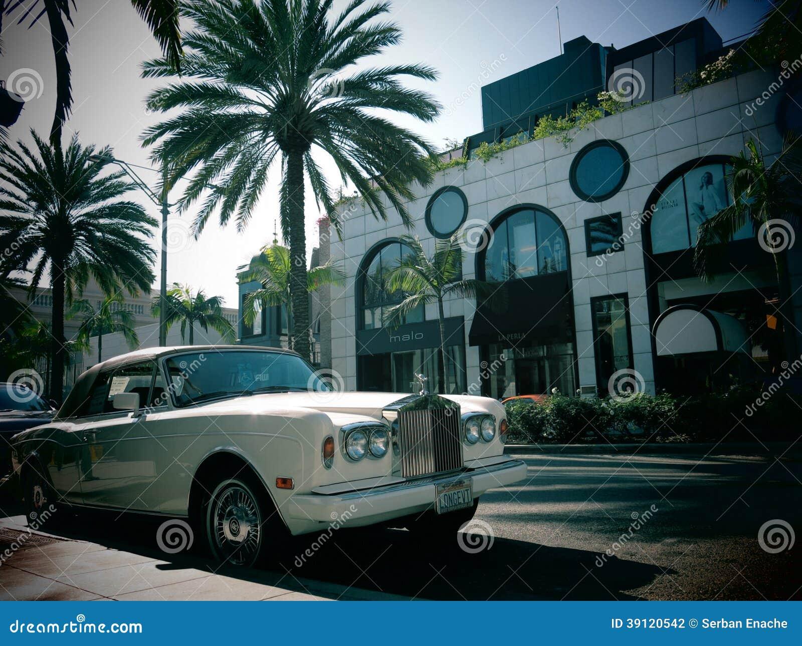 Carro luxuoso de Rolls Royce