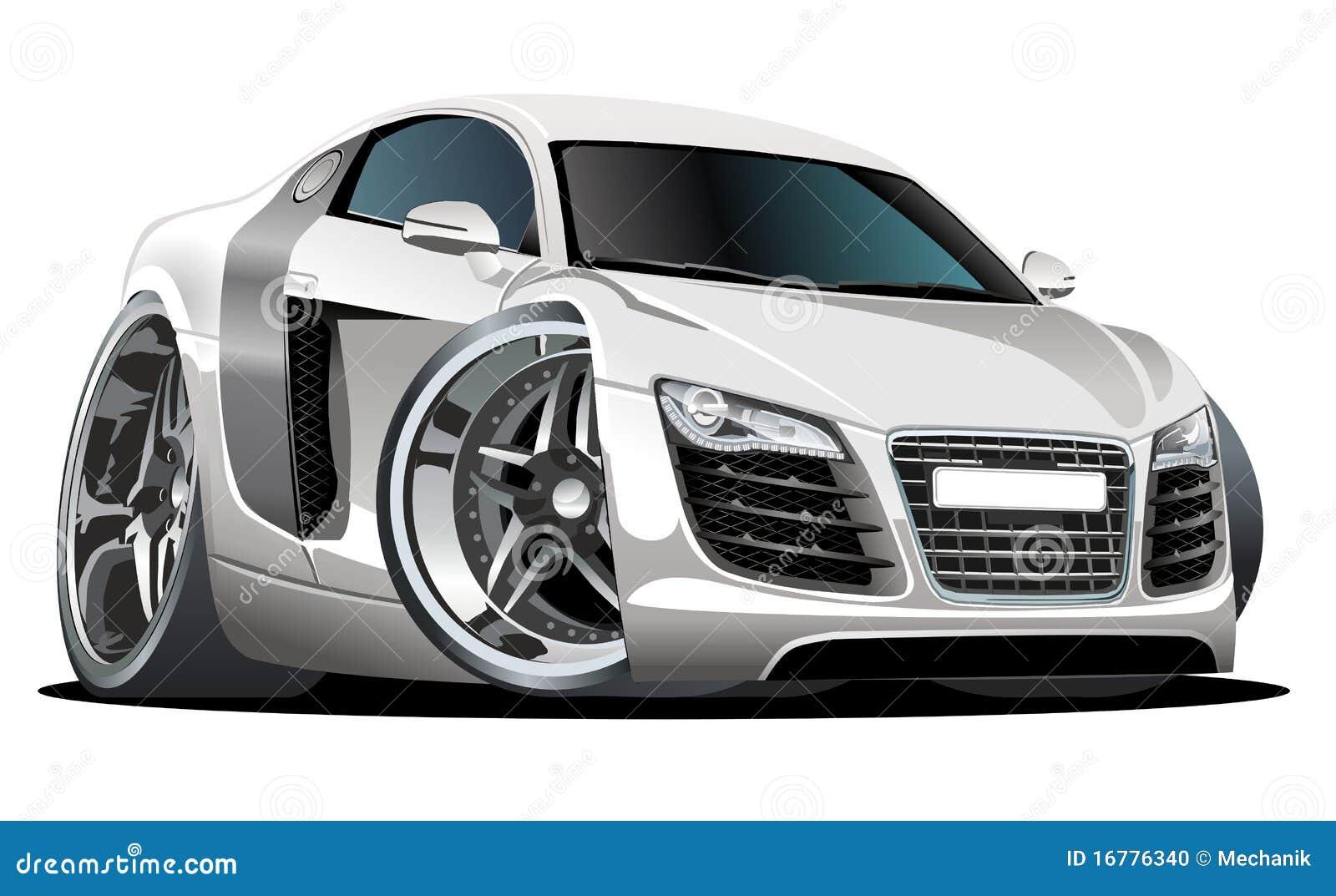 Carro Moderno Dos Desenhos Animados Do Vetor Foto De Stock