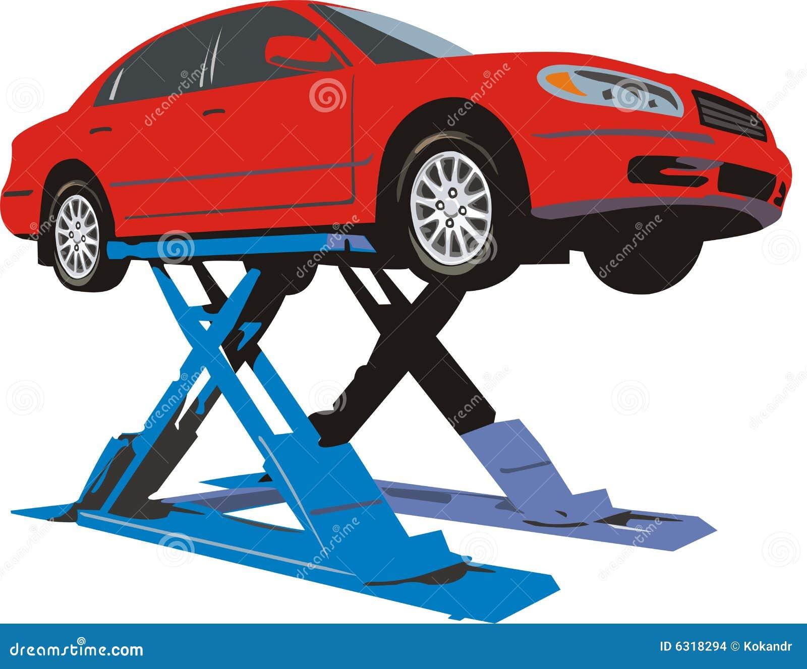 Carro No Elevador Ilustra O Do Vetor Imagem De Ve Culo
