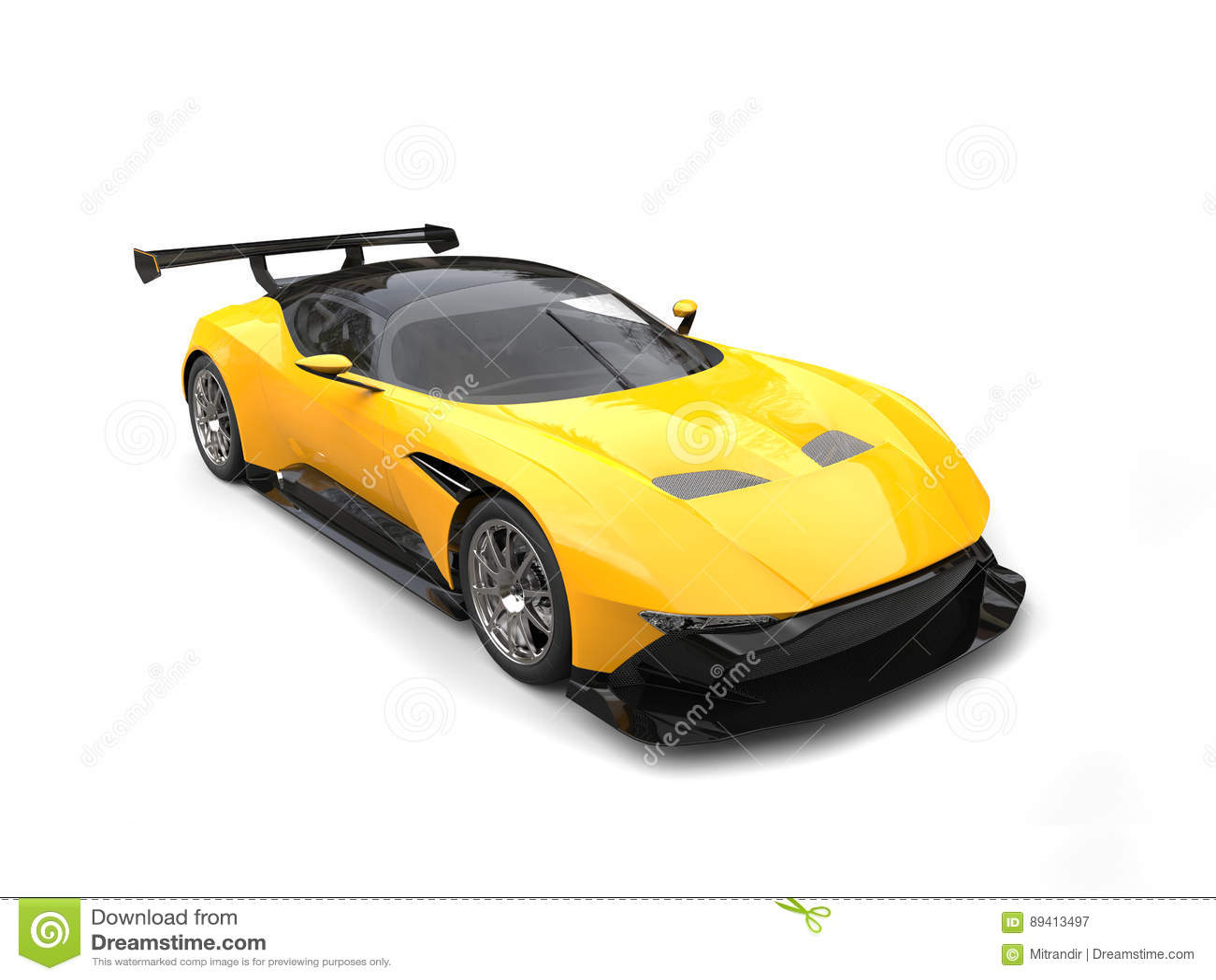 Carro super impressionante amarelo preto e brilhante