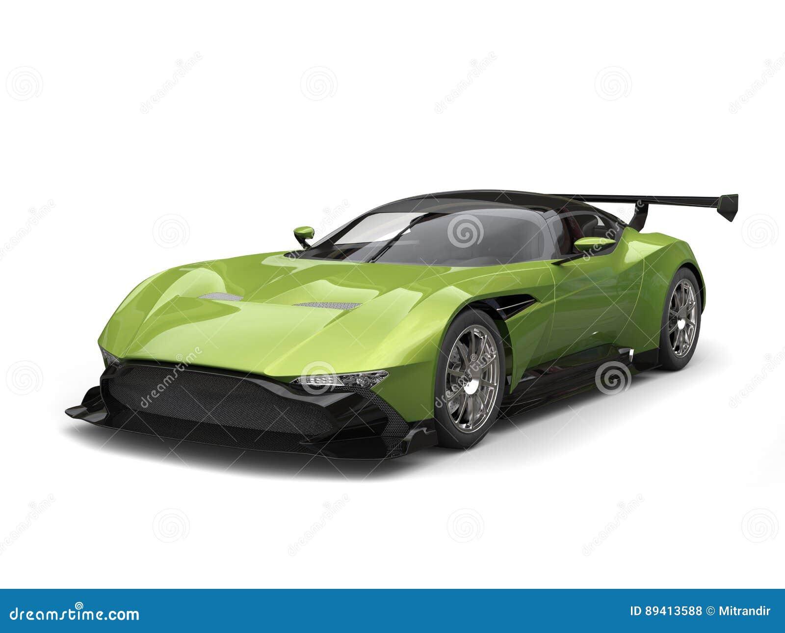 Carro super moderno metálico do verde azeitona