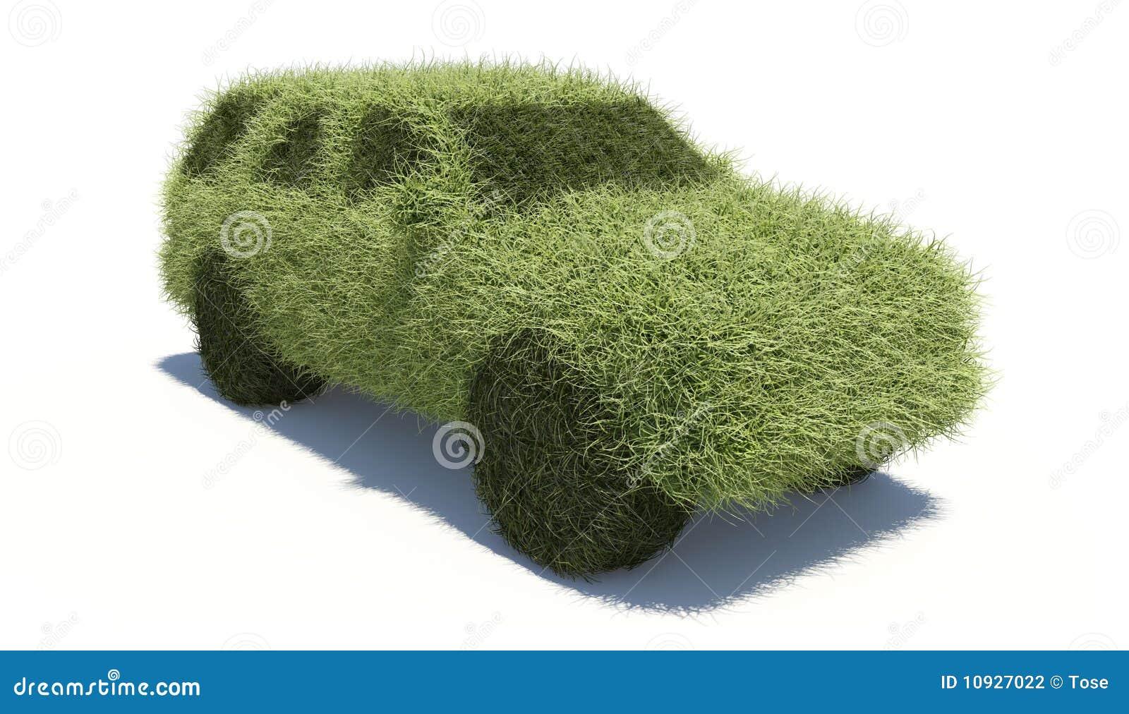 Carro verde do conceito. Combustível limpo.
