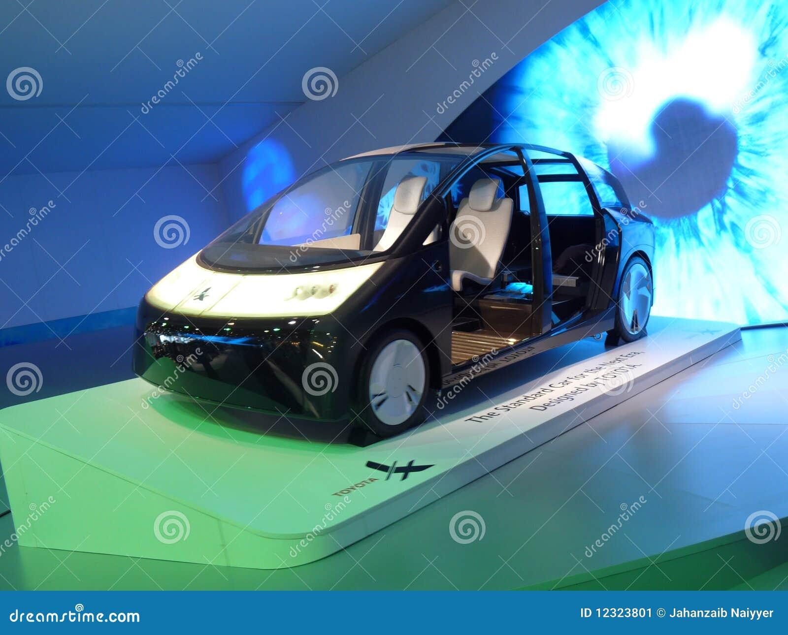Carro verde futuro de Toyota