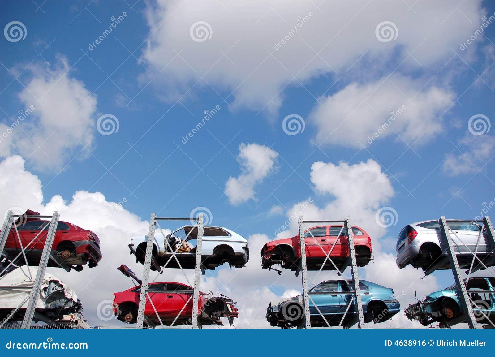 Carros causados um crash