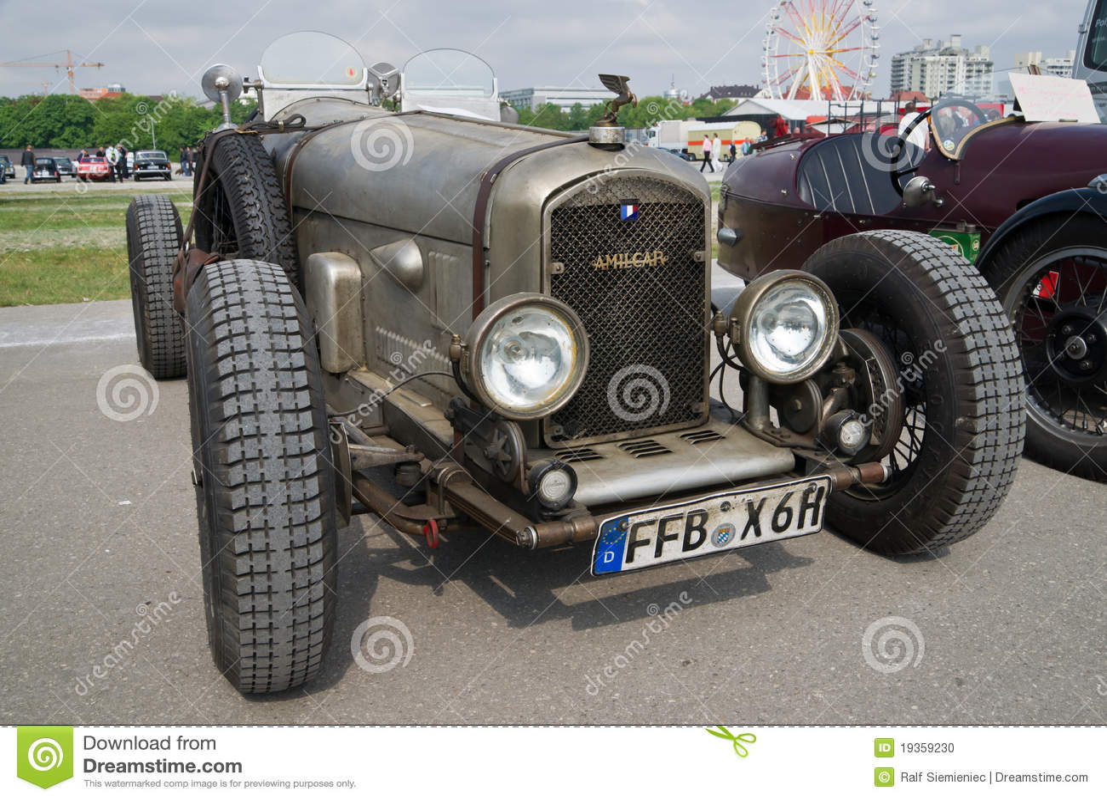 Carros clássicos no festival de mola de Munich