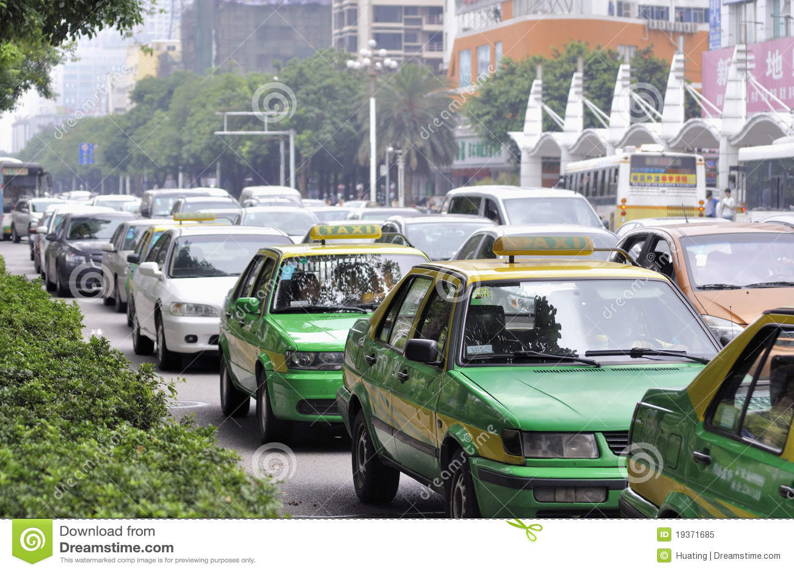 Carros da multidão no feriado