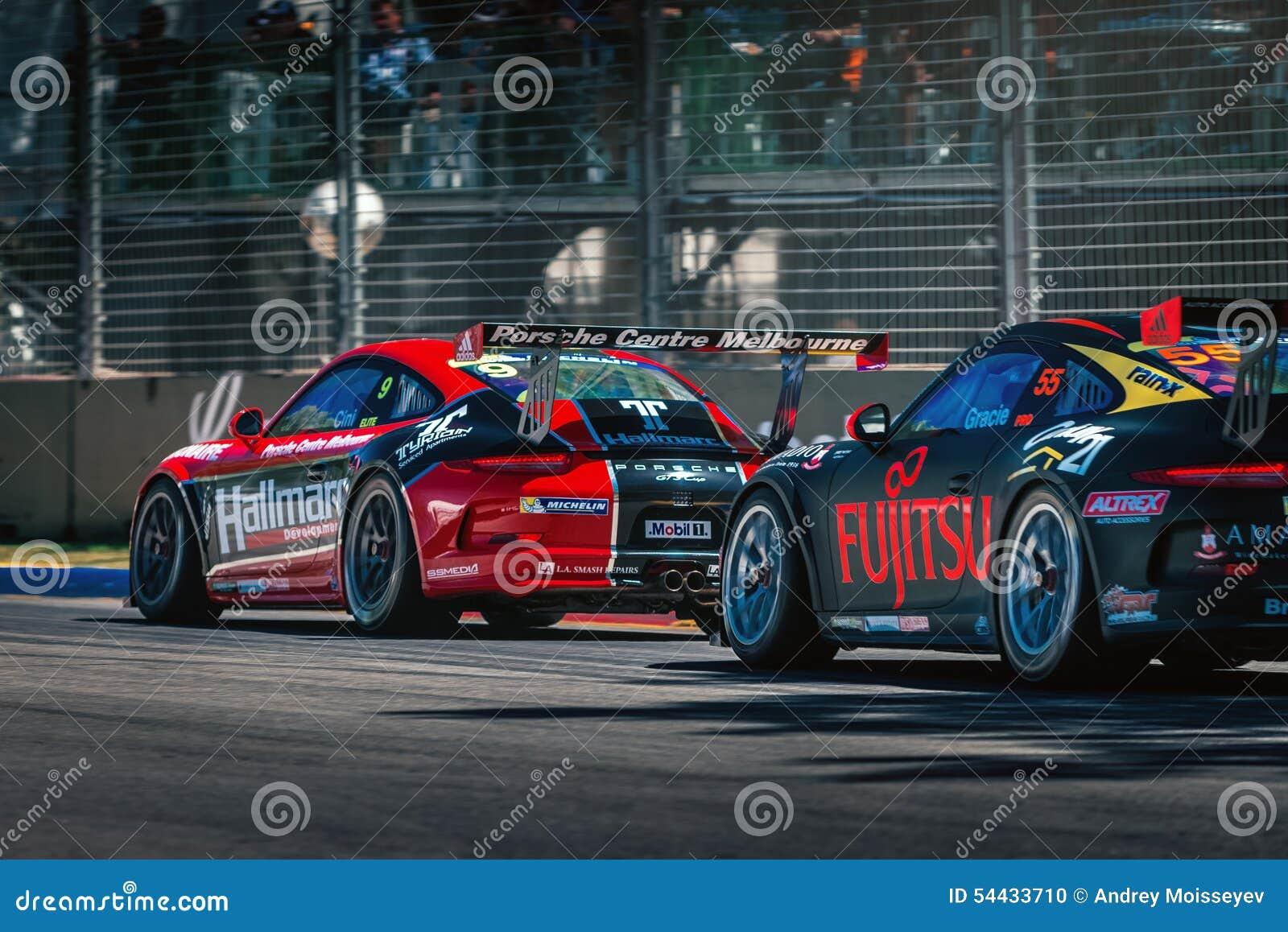 Carros de competência de Porsche GT3