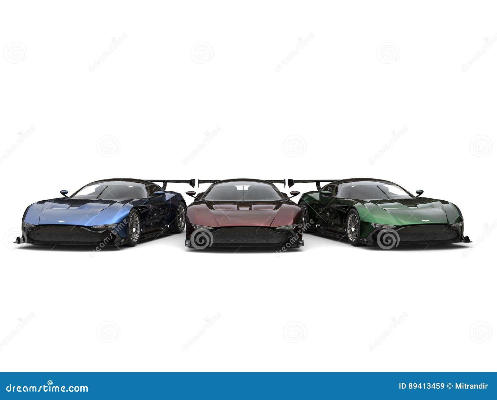 Carros de esportes pintados metálicos modernos impressionantes
