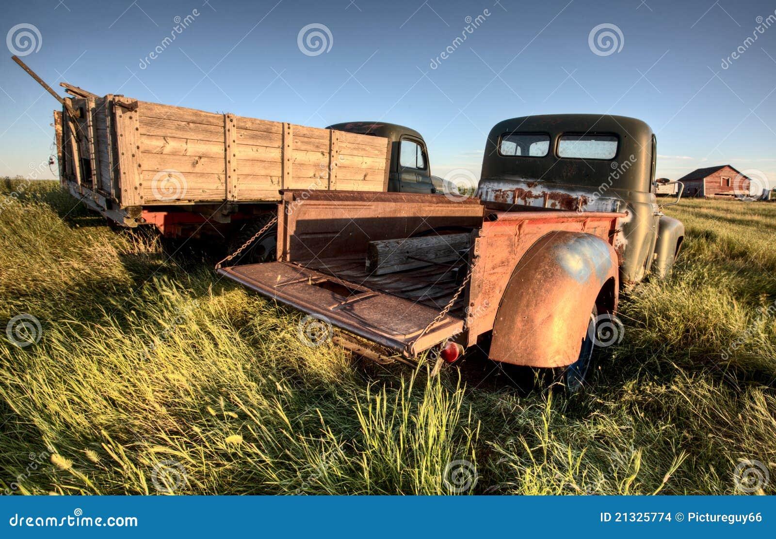 Carros de la granja de la vendimia