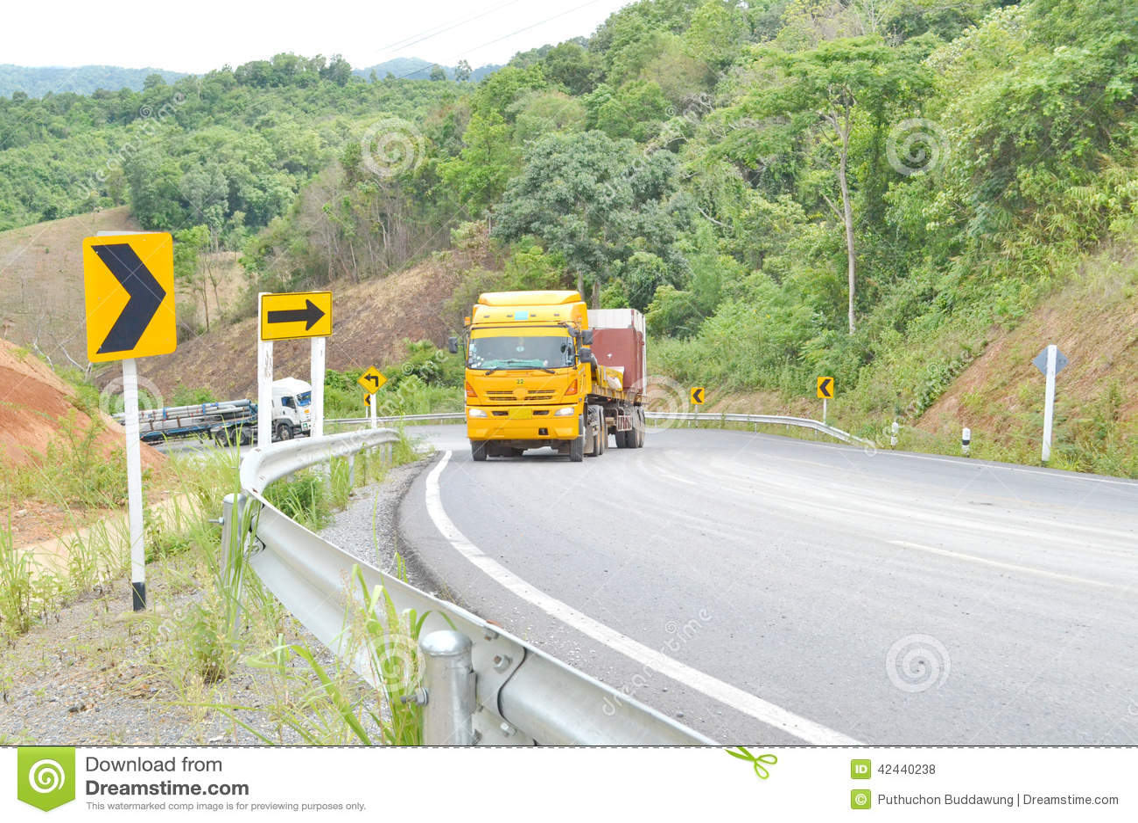 Carros del camión cargados