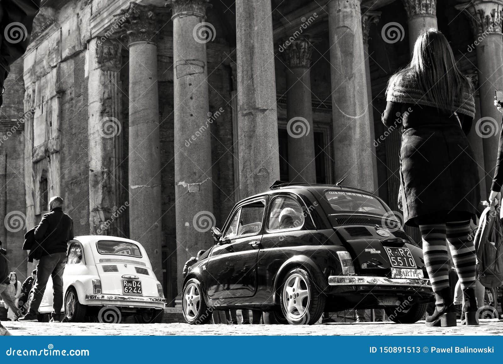 Carros do vintage em Roma