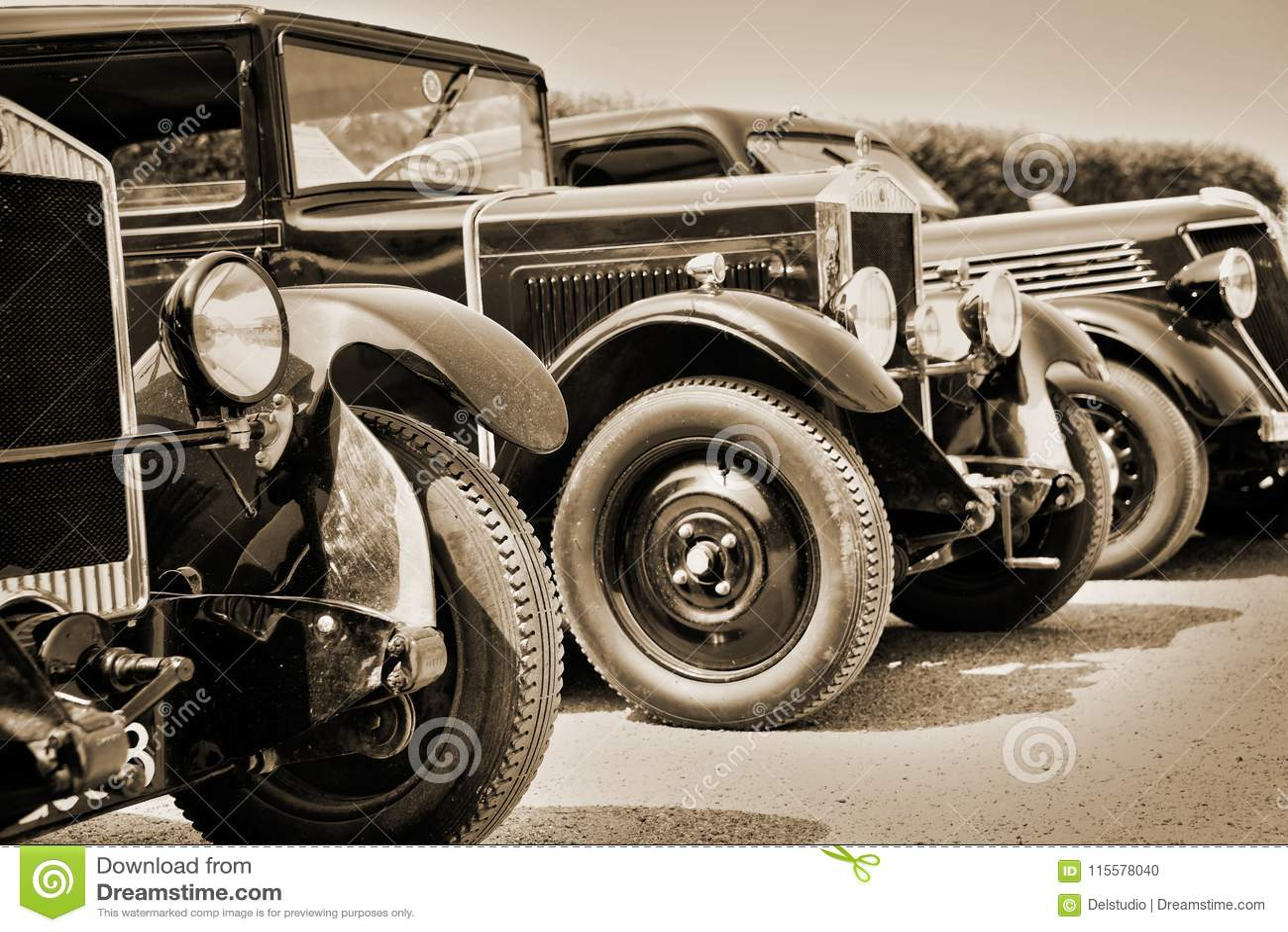 Carros do vintage, sepia