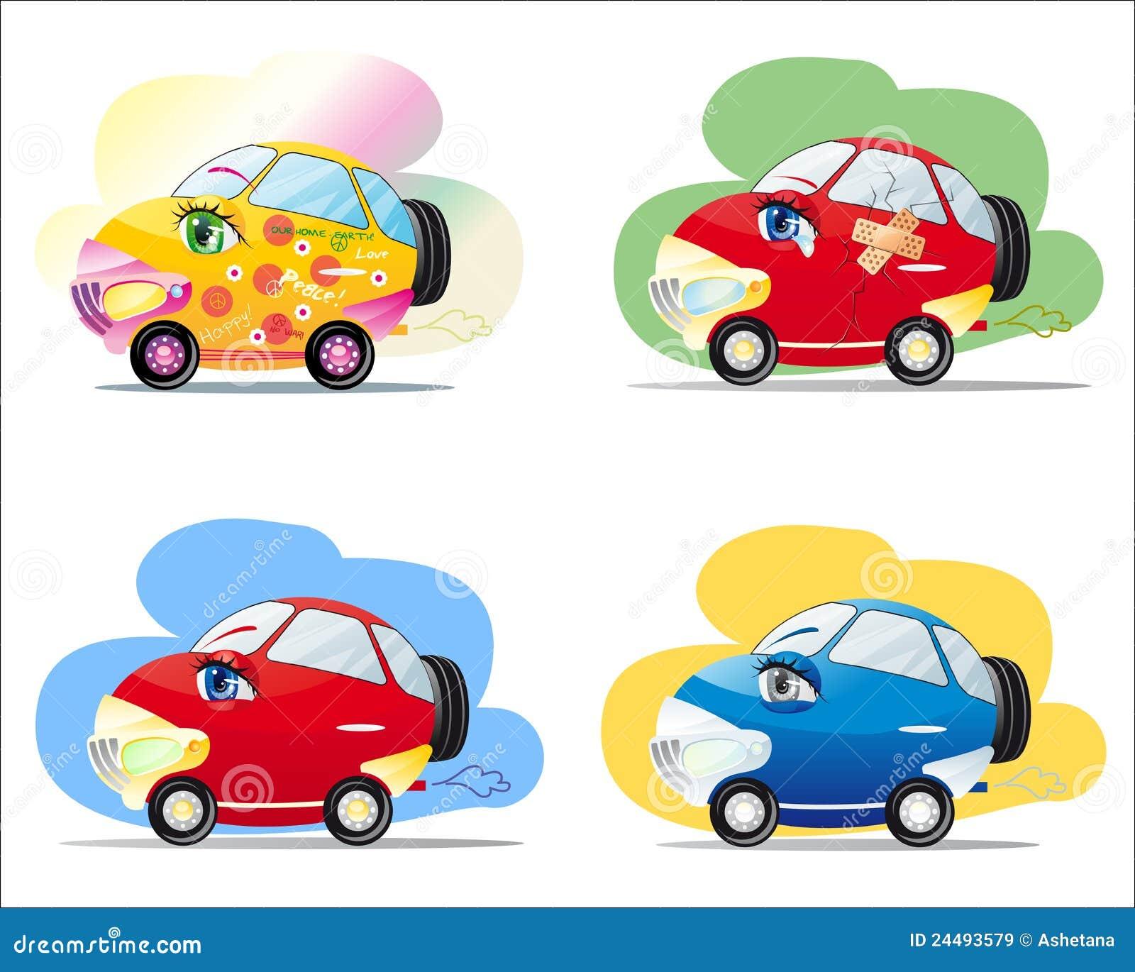carros dos desenhos animados ilustração do vetor ilustração de