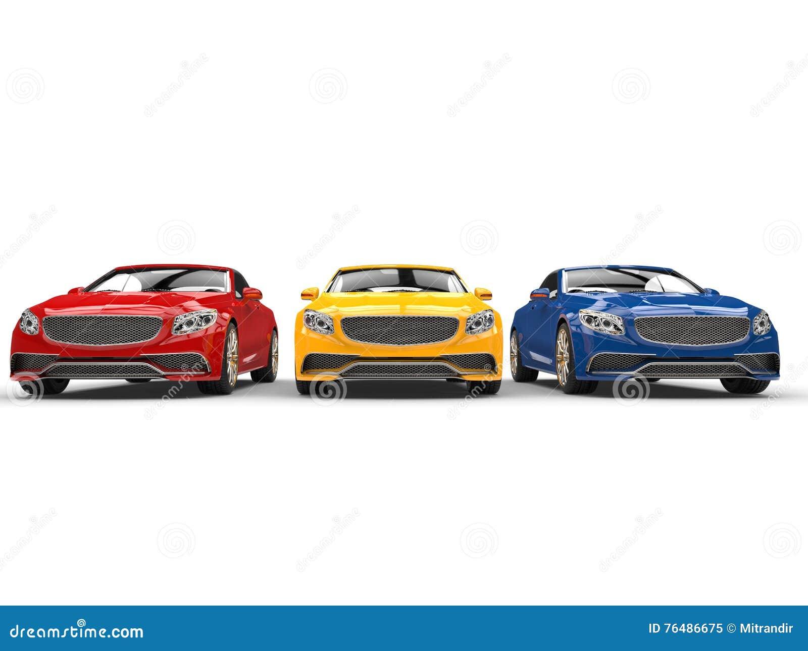 Carros modernos - cores preliminares