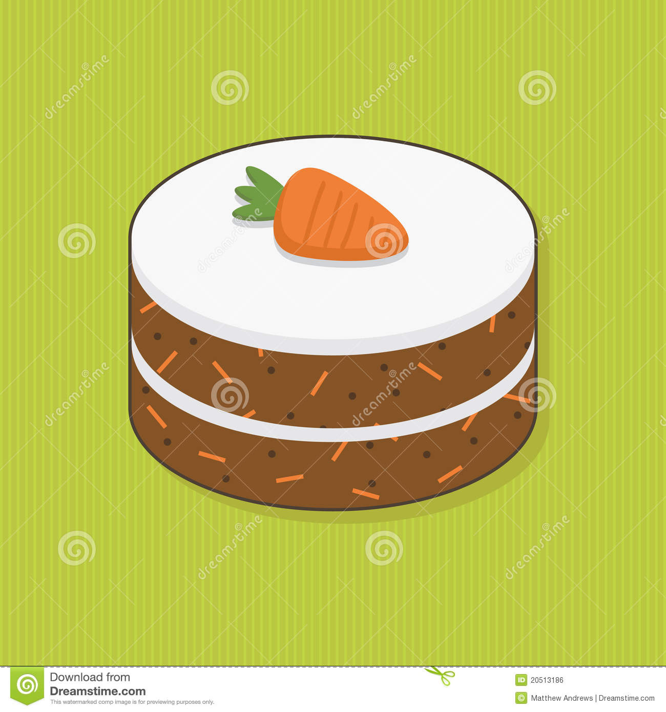 Carrot Cake Royalty Free Stock Image - Image: 20513186
