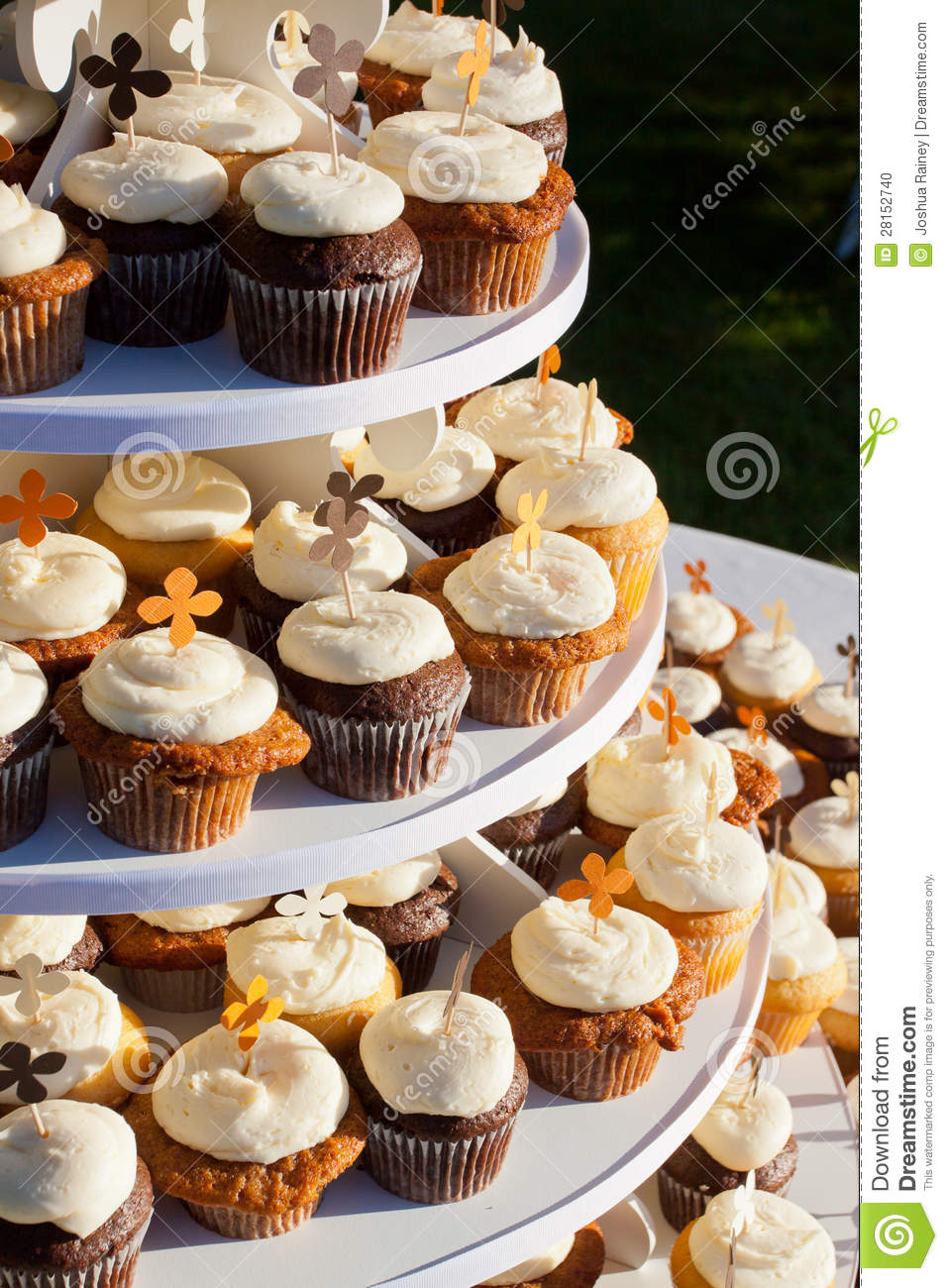 Carrot Cake Cupcakes stock photo. Image of sweets, frosting - 28152740