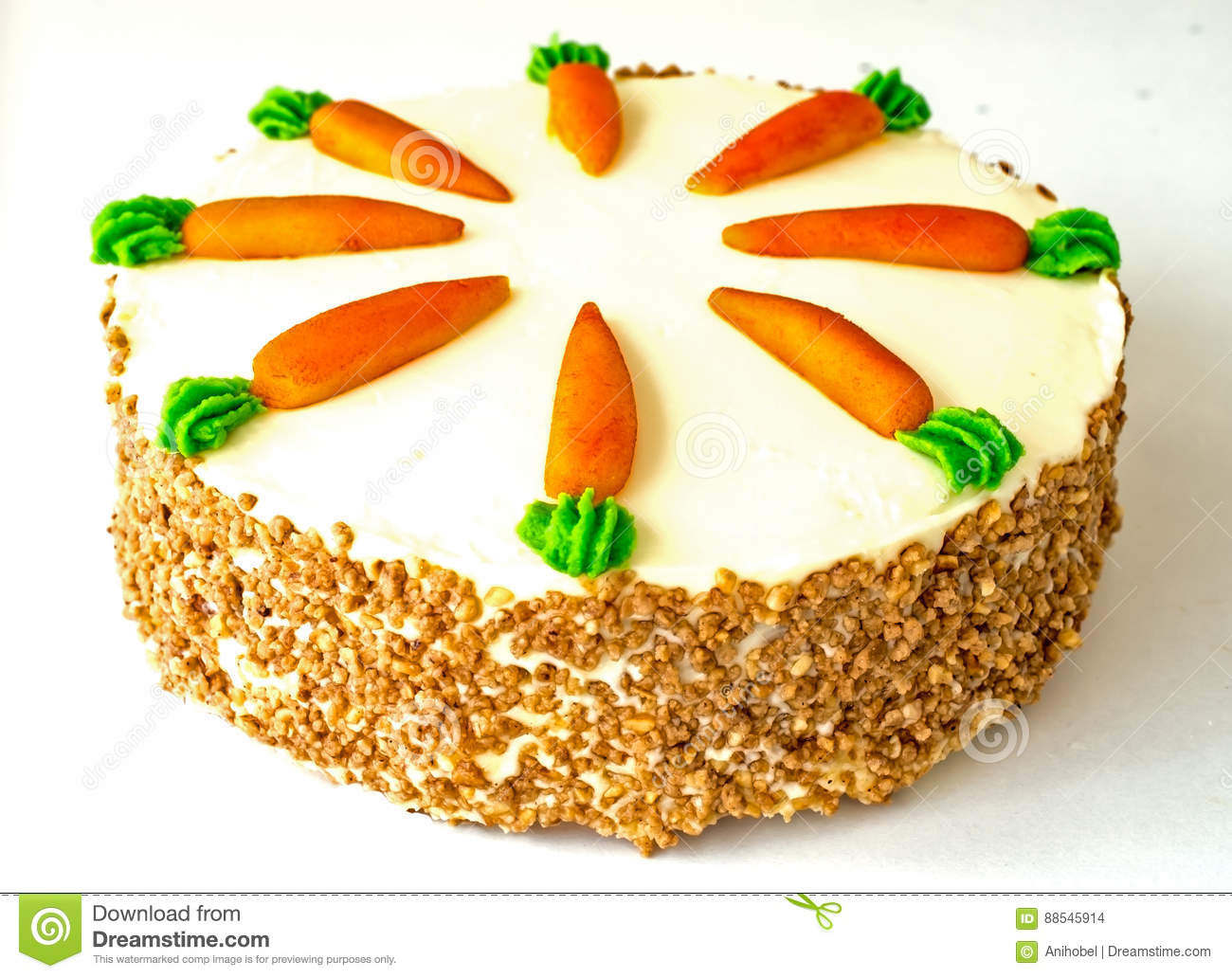 Download Carrot cake isolated stock photo. Image of white, carrot - 88545914