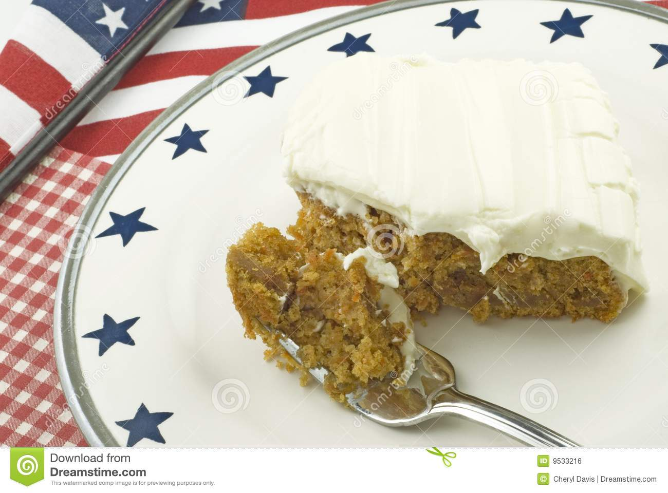 Carrot Cake with Patriotic Theme