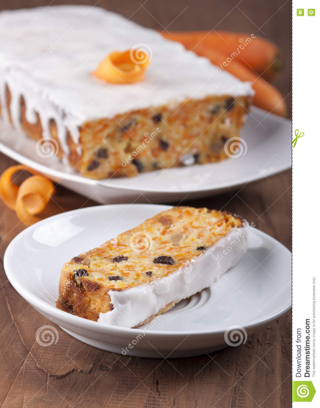 Download Carrot cake . stock image. Image of gourmet, frosting - 78697031
