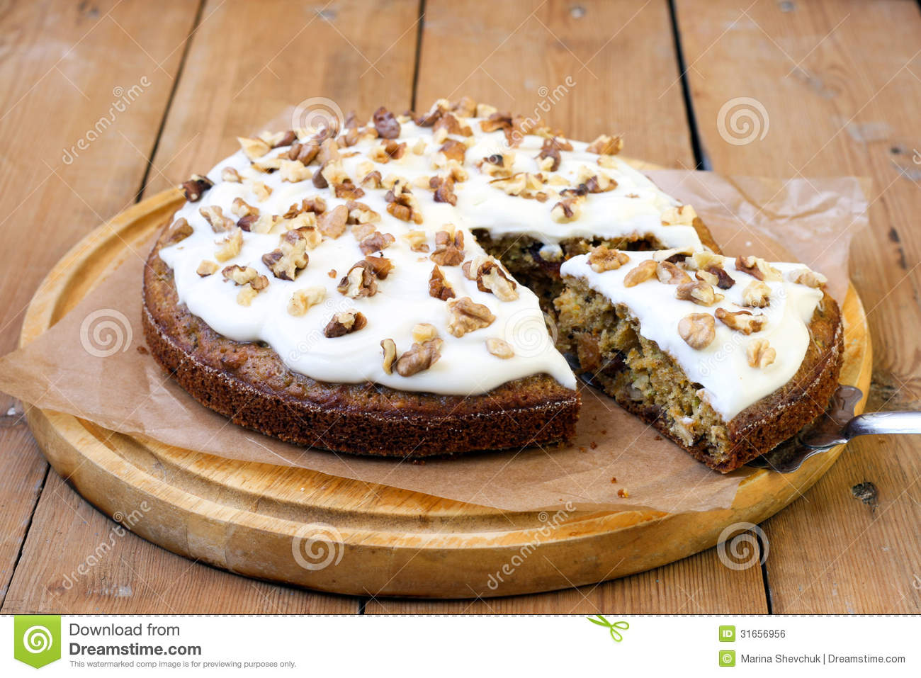 Courgette Cake With Cream Cheese Frosting